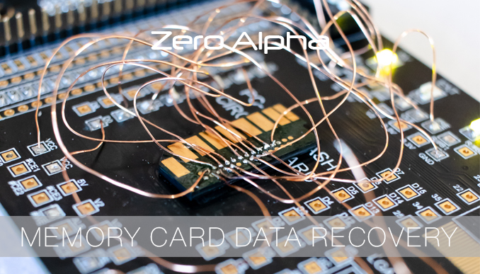 Zero Alpha recovering data from a full sized SD card with embedded technology inside a single pcb